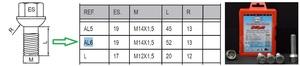 HEYNER 856.810 Болт   Колёсн./секрет. Антивор к-т  MB*  Тип AL6