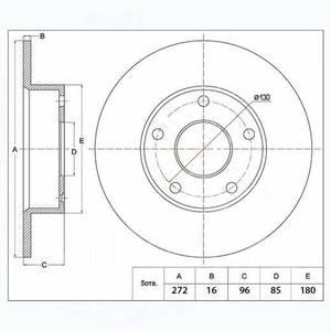 PATRON PBD4088 Диск торм.   Задн. б/в  MB*SPR 3t  (F-9101)
