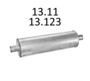 EDEX 13.11 Глушитель   Задн. часть MB*BUS 207D-410D 80-91