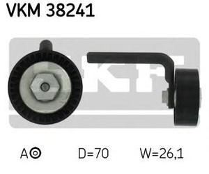 SKF VKM38241 Ролик   Руч.рем. BM*E46/E60/E61/E65 натяж.  Глад. с/кроншт. с/болт. и пыльн.