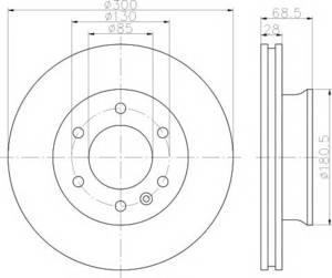 PATRON PBD4822 Диск торм.   Передн. с/в  MB*SPR / VW*CRF  06-