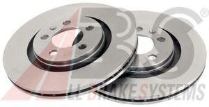 ABS 16881 Диск торм.   Передн. с/в  VW*G4/BR / SK*OC / A*A3