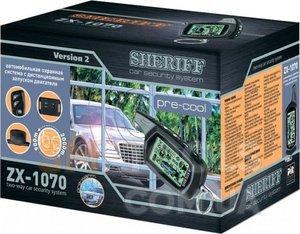 SHERIFF ZX-1070 Сигнализац.   С автозапуском SHERIFF   ZX-1070  упр.900м/оповещ.2000м