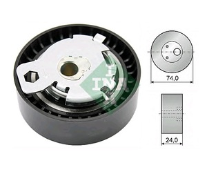 INA 531 0497 10 Ролик   ГРМ F*TRS/TRS CNC/MD/FC/FS/GLX 1,8D/TDC  00- натяж.  Глад. с/мех. с/эксц.