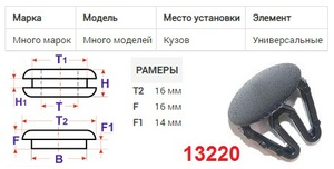 NAck 13220 Клипса   Заглушка