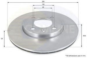 ABS 15810 Диск торм.   Передн. с/в  VW*G2/G3/P3/P4 VN