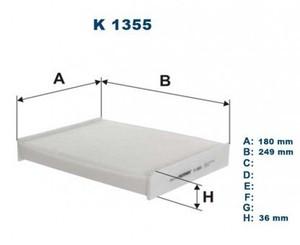 FILTRON K1355 ФИЛЬТР САЛОНА N*XTR/QSQ  13-  250-180-34