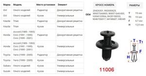 КИТАЙ K30324 Клипса   Распор