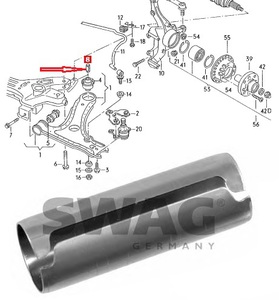 SWAG 99903544 ВТУЛКА   С/блок. Пер.рыч.VW*G2/G3/P3/P4  Задн.