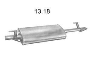 EDEX 13.18 Глушитель   Задн. часть MB*SPR 208D 95- 2.3D