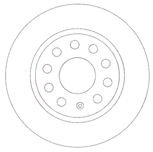ABS 17547 Диск торм.   Задн. б/в  A*A3 / SK*OC/SUP / VW*CD3/G5/TRN