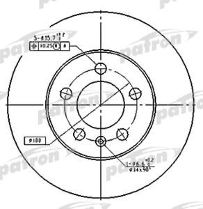 PATRON PBD2803 Диск торм.   Передн. с/в  A*AF/AG / VW*G4/PL / SK*FB/OC