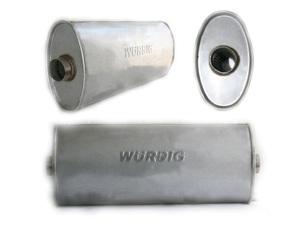 WURDIG 88-07 Глушитель   Бочка универс. овал 04.285  сквозной